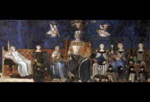 Palazzo Pubblico - vladar s vrlinama