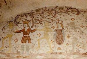 Ples mrtvaca, crkva Nørre Alslev, o. Falster, Danska, oko 1480.