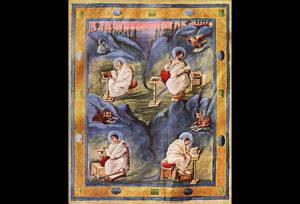 Aachen gospel, c.820.