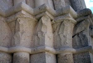 Medvedgrad - capitals on the chapel