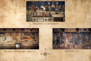 Palazzo Pubblico - layout of the frescoes