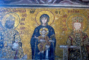 Virgin Mary with Emperor John II Komnenos and Empress Irene