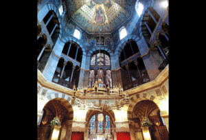 Inside the Palatine Chapel in Aachen