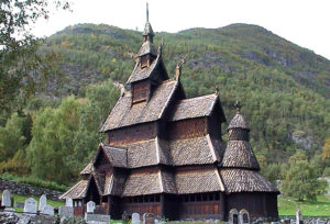 Wooden church in Borgund 11th century