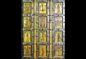 Bronze doors from the church of San Paolo furi le Mura, Rome