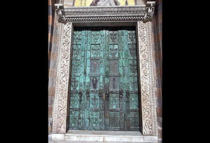Bronze doors, the cathedral in Amalfi
