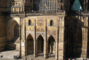 South portal of the Cathedral of St.. Vitus, Prague