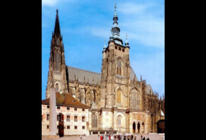 Cathedral of St.. Vitus in Prague, view from south