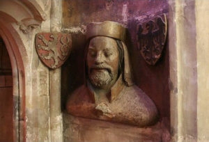 A bust of Charles IV., Triforium Cathedral of St.. Vitus, Prague