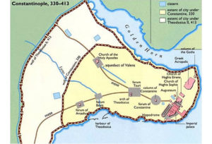 The city plan of Constantinople