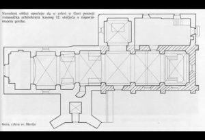 Church in Gora, plan