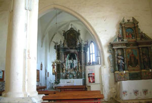 Church of St. Mary, Glogovnica, interior