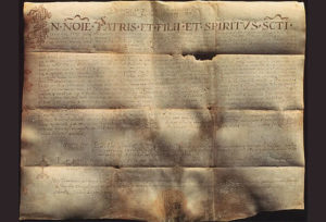 Charter of duke Muncimir from 892