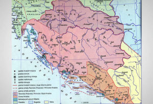 Croatian territory during the reign of duke Trpimir