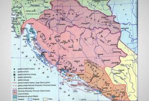 Croatian territory during the reign of duke Trpimir