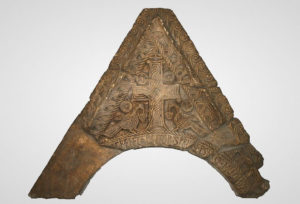 Fragment of gable with inscription of duke Muncimir from 895