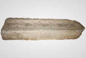 Fragment of stone beam with inscription of duke Branimir