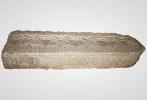 Fragment of stone beam with inscription of duke Branimir