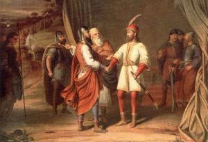 Ljudevit's alliance with Slovenes against Franks