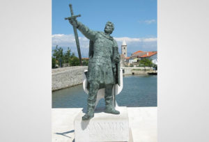 Statue of duke Branimir in Nin