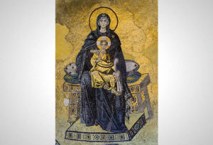 Virgin with Child, mosaic in the apse of Hagia Sophia