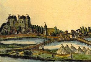 Image of Vukovar on the drawing made by M. Prandstatter