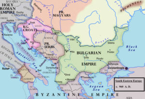 Map of Middle and Eastern Europe around 950