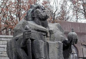 Nikola Gruev, Statue of Bulgarian King Samuilo, Samuilo's fortress, Petrich, Bulgaria