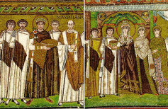 Emperor Justinian and empress Theodora